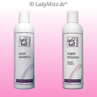 Set Silbershampoo&Silberconditioner je 1x250ml  gegen Gelbstich Hairwell EURODOR