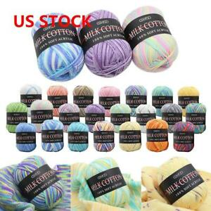 Mixed-Lot-23-color-50g-DK-Knitting-Crochet-Milk-Soft-Baby-Cotton-Wool-Yarn-US