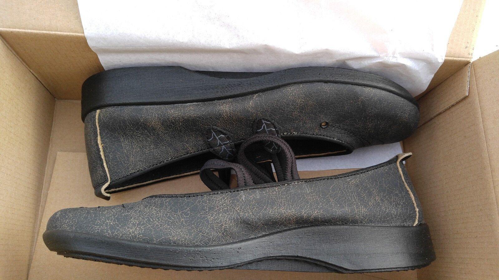 NIB Arcopedico 6383 Womens Blossom VB Black Ballet Flat Flat Flat Shoes 40 EU / 9 - 9.5 US 608f86