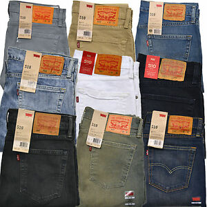 Levis 510 Jeans Skinny Fit Mens Levi's Denim Rinsed Dark ...