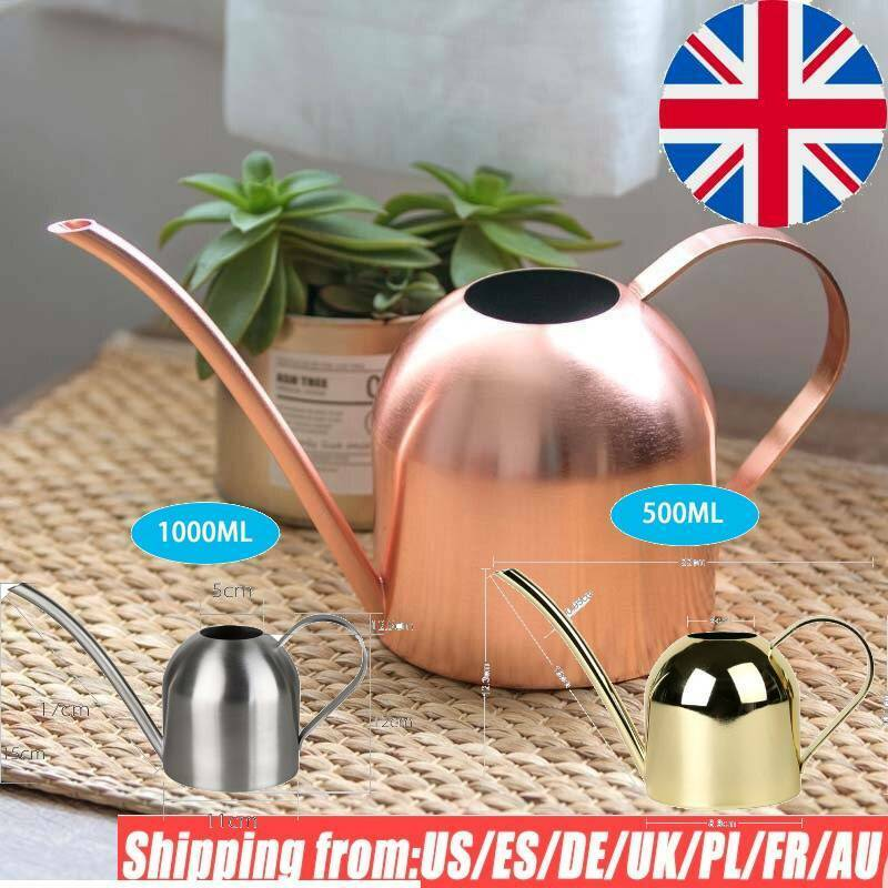 Long Mouth Water Can Stainless Steel Watering Pot Garden Flower Plants Watering