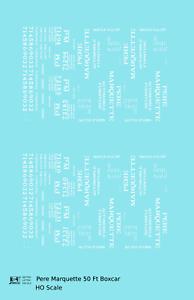 K4-HO-Decals-Pere-Marquette-50-Ft-Auto-Boxcar-White