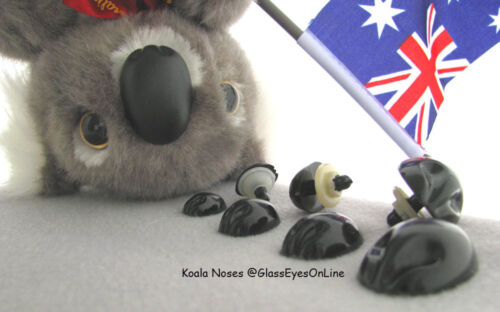 12 Koala Noses for Koala Teddy Bears Fantasy Characters Size 17mm to 26mm KN-1