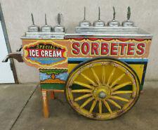 1950s Ice Cream Cart Push Wagon Wheel Sorbet Manila Philippines Antique Sorbetes
