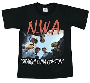 NWA T shirt Straight Outta Compton Eazye Ice Cube Dr Dre Hip Hop Rap 90s Tee