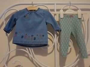 Next-Blue-Embroidered-Denim-Top-And-Leggings-Outfit-Set-Age-3-6-Months
