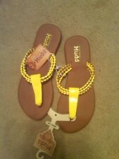 136d1a8d218b item 6 NEW GIRLS LADIES BRIGHT YELLOW SANDALS FLIP FLOPS BY MUDD-- SIZE  SMALL 5-6 -NEW GIRLS LADIES BRIGHT YELLOW SANDALS FLIP FLOPS BY MUDD-- SIZE  SMALL 5- ...