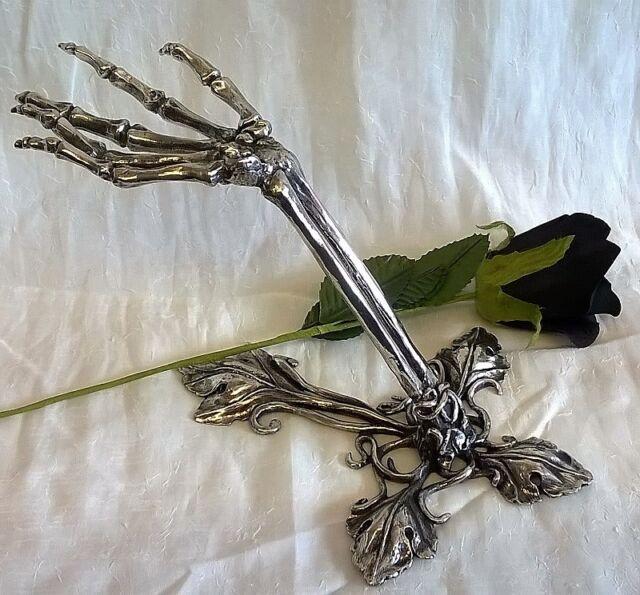 82ff8761f36 porcelain skeleton ring holder images Alchemy litternere gothic occult goth jewellery  stand ebay jpg