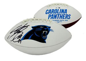 huge selection of 0e546 76d3e Details about Steve Smith Sr Autographed/Signed Carolina Panthers  Embroidered Logo Football