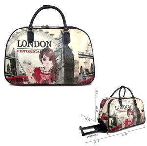 Ladies-London-Holdall-Weekend-Bag-Big-Ben-Trolley-Hand-Luggage-Travel-Handbag
