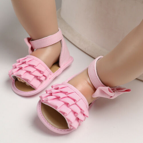 Baby Shoes Newborn Girls Princess Non-Slip Sandals Fabric Shoes