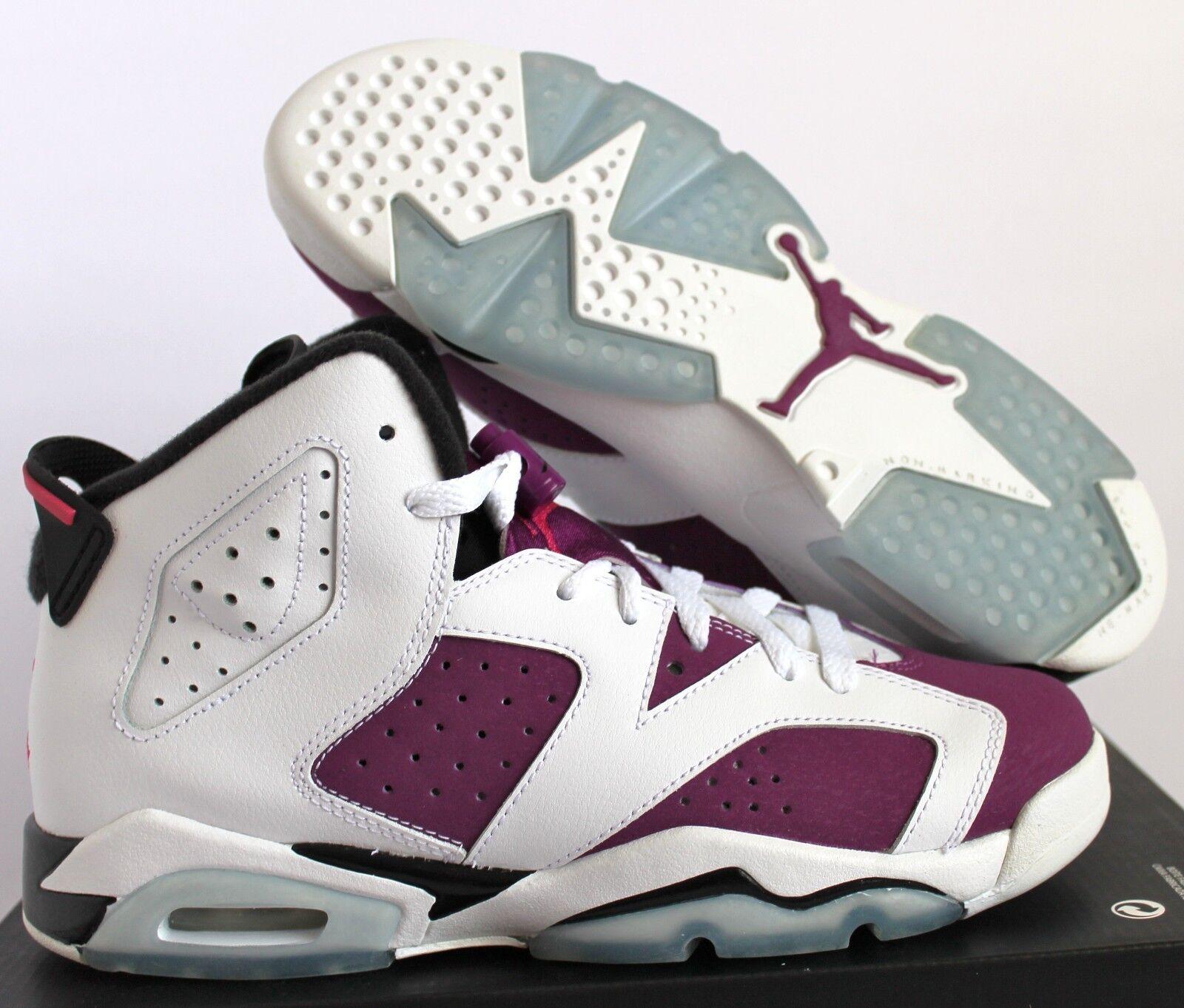 Nike Air Jordan 6 tamaño Retro Gg Blanco-vivos rosa tamaño 6 7Y-Para Mujer [543390-127] 2dfc54