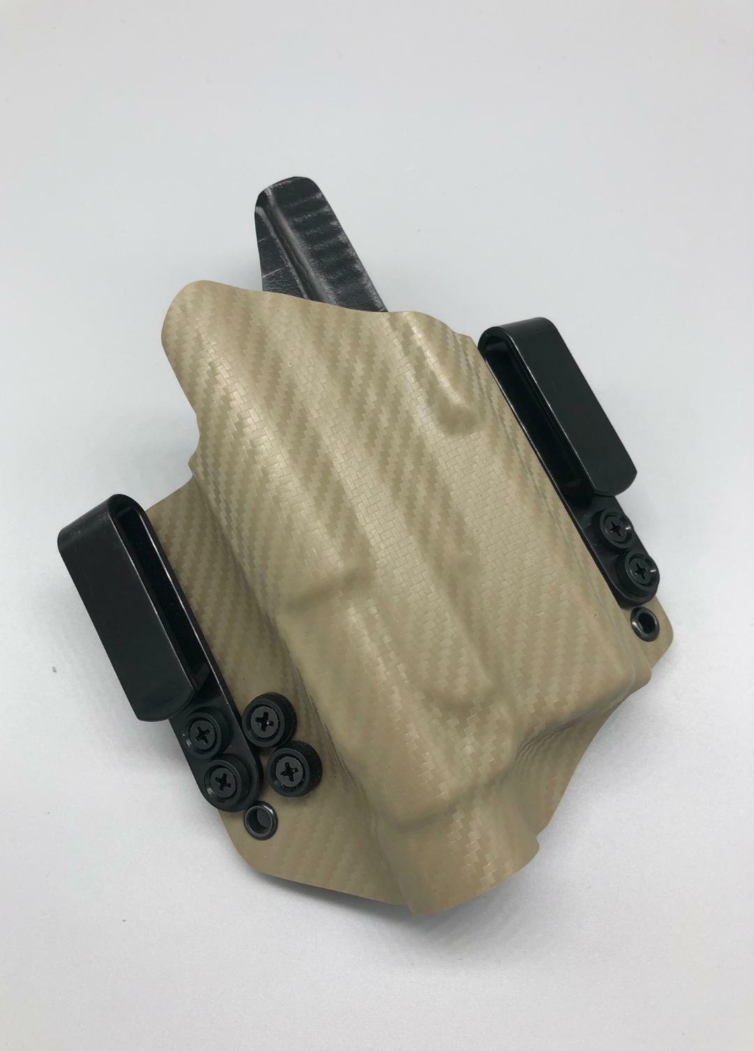 Se adapta a un Glock 17 22 con luz TLR1-tan carbono funda Kydek dentro de la cintura dentro de la cintura