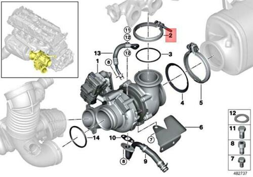 For BMW Genuine Turbocharger Retaining Ring 11658518404
