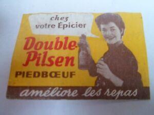 Etiquette-allumette-BIERE-DOUBLE-PILSEN-PIEDBOEUF-Belgium-88