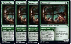 Curious Pair x4 4x Showcase FOIL Throne of Eldraine NM MTG