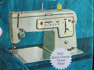 Vintage singer stylist 457 manual sewing machine by revvie1.