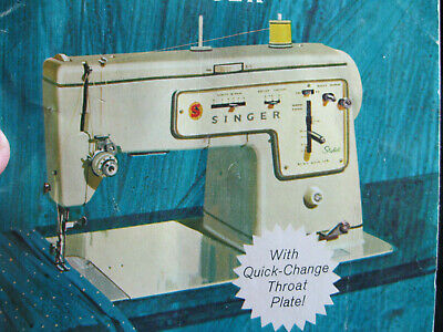 Singer stylist zig-zag model 457 sewing machine w/table & manual.
