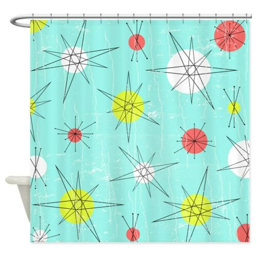 "CafePress Atomic Era Art Decorative Fabric Shower Curtain 1809519156 69/""x70/"""