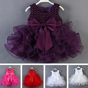 Image is loading Baby-Girl-Princess-Pageant-Wedding-Birthday-Party-Formal- 8c2648c230d5