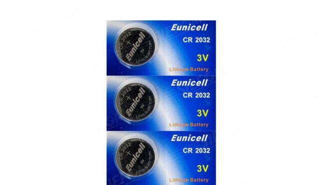 Eunicell 3 Lithium-Batterien CR2032 BR2032 DL2032 EA-2032C KCR2032 L14