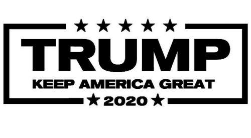 Trump 2020 Make Keep America Great Again Decal BLACK Vinyl Bumper Sticker
