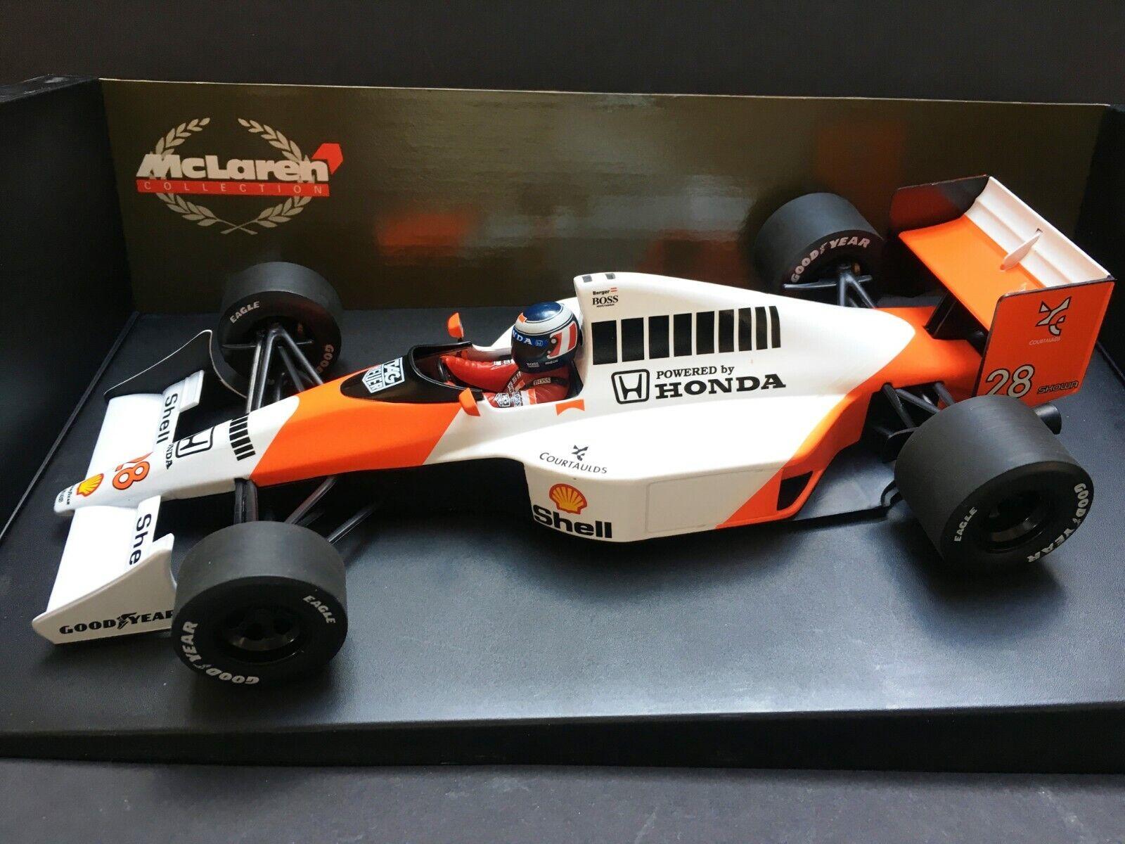 Minichamps - Gerhard Berger - McLaren - MP4 5B - 1990 - 1 18 - Rare