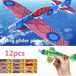 12-Flying-Plane-Gliders-Polystyrene-Pinata-Toy-Loot-Party-Bag-Fillers-Wedding