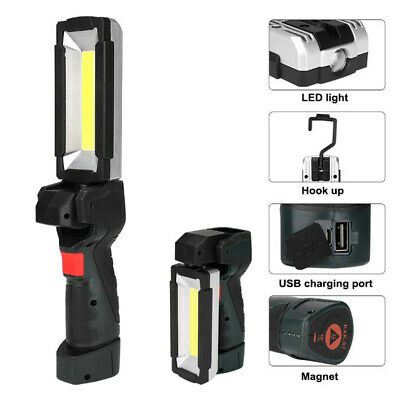 Multifunction Rechargeable COB LED Slim Work Light Lamp Flashlight Magnetic UK A