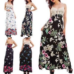 Vestito-donna-abito-lungo-fantasia-floreale-top-pizzo-ricamato-tricot-KK10076