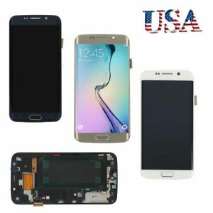 For-Samsung-Galaxy-S6-Edge-G925-LCD-Display-Screen-Touch-Digitizer-Frame-Replace