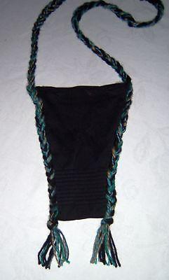 DIY Handarbeit SAFE Tasche Täschchen Kordel schwarz f. Handy Geldbörse Schlüssel