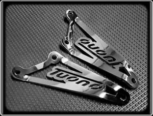 Polished Brackets Exhaust Hangers for APRILIA TUONO 1000-2006 to 2010
