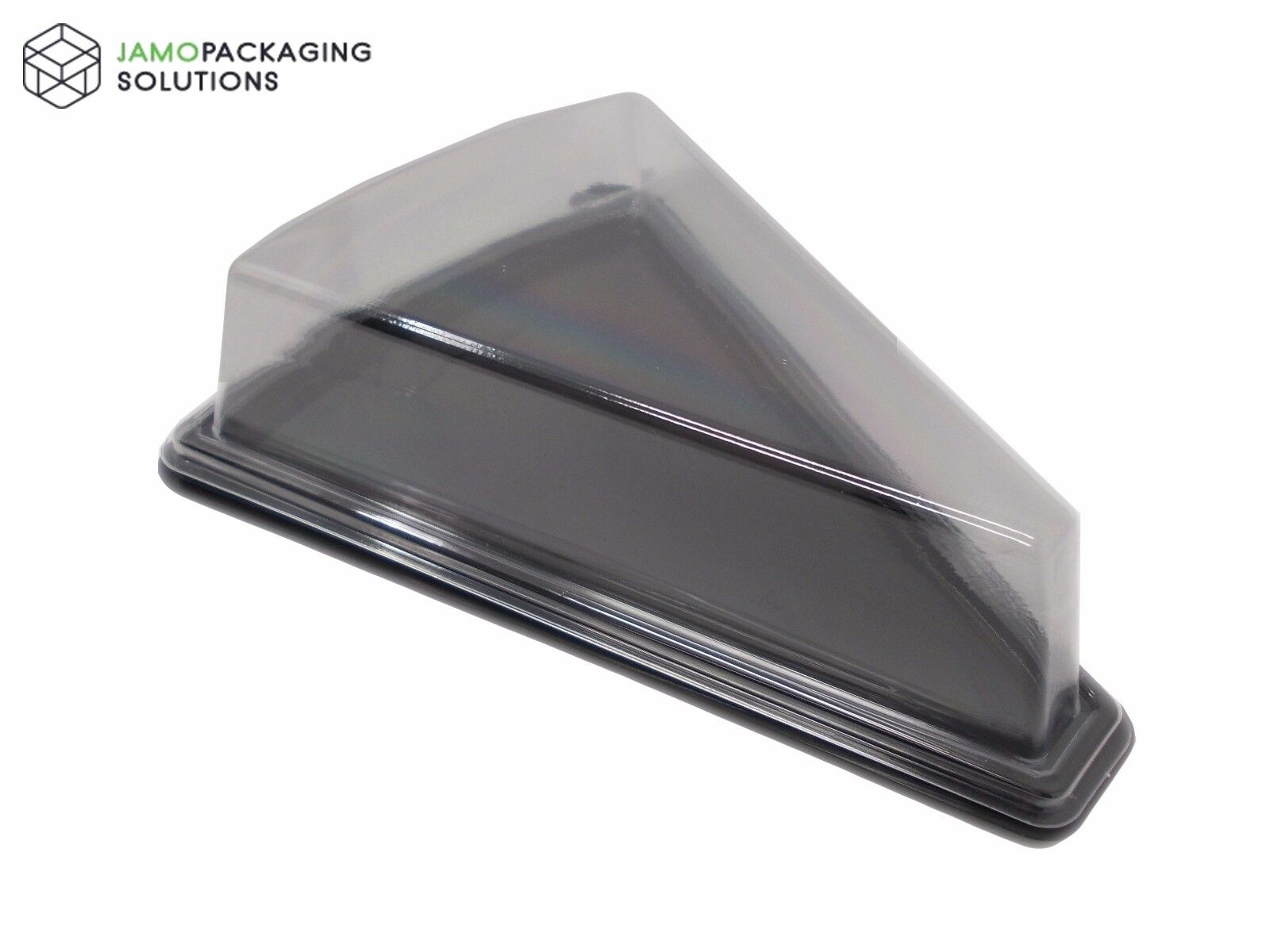 Clear Plastic Take Away Triangle Cake Cheese Food Sandwich
