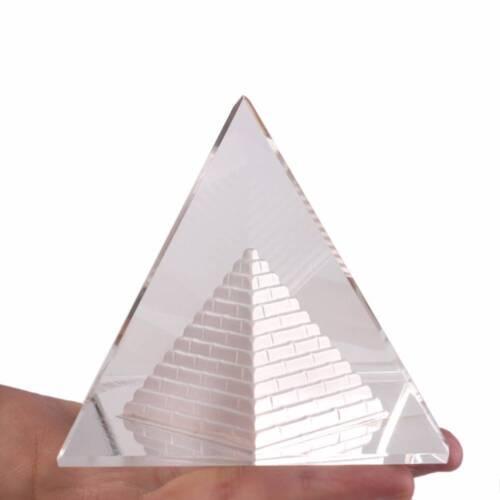 3D Cristal Egypte pyramide presse-papier 4 cm égyptien Building Model decor antique