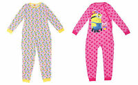 Girls Onesie Pyjamas Despicable Me Minions 3 4 5 6 7 8 9 10 11 12 & 13 Years