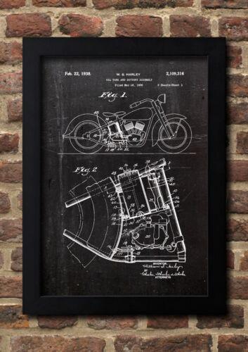 Harley 1938 Fine Art Print Galeriequalität A4 Kunstdruck 01