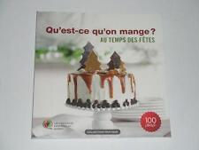 QU'EST-CE QU'ON MANGE? au temps des Fetes NEW 2014 French