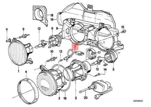 BMW E24 E34 E32 Front Side L Bulb Holder Socket Genuine. BMW E24 E34 E32 Front Side L Bulb Holder Socket Genuine 63121378334 Ebay. BMW. BMW E24 Instrument Wiring Connector At Scoala.co
