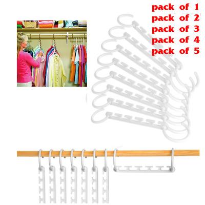 Wonder Closet Organizer Space Saver Magic Hanger Clothing Rack Clothes Hook