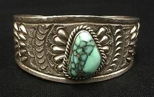 Turquoise Cuff Bracelet *Native American Indian *Sterling* - Navajo