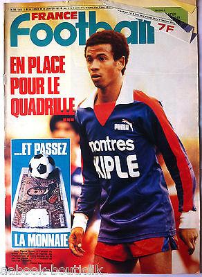 France Football Du 20/01/1981; Jean Tigana/ Du Football Mais à Quel Prix ?