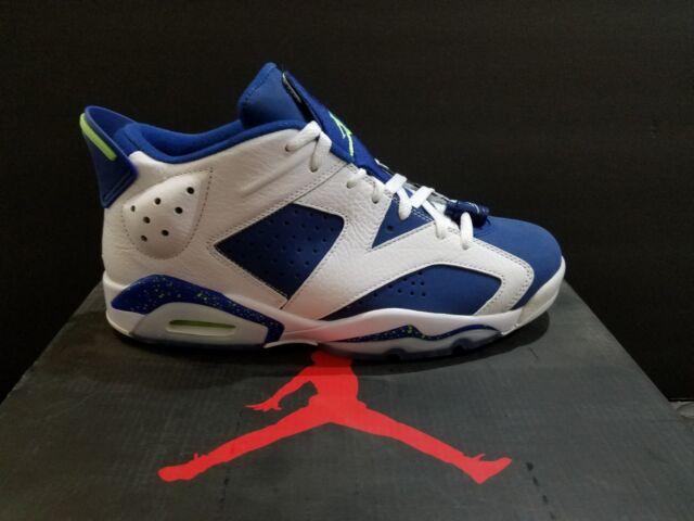 various colors 252b2 f2ad8 Nike Air Jordan 6 Retro Low Size 12 Seahawks NWB 304401 106