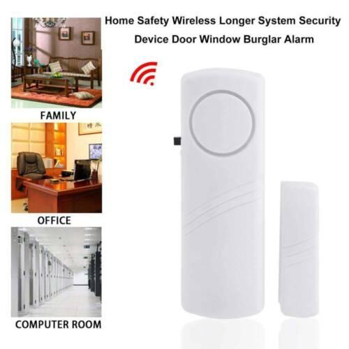Alarm Door Sensor Magnetic Wireless Alert Bell Entrance Room SET Kit Chime Entry