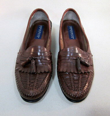 Men's GIORGIO BRUTINI 'Le Glove' Handcraft Dress Loafers Brown Leather SIze 11 D