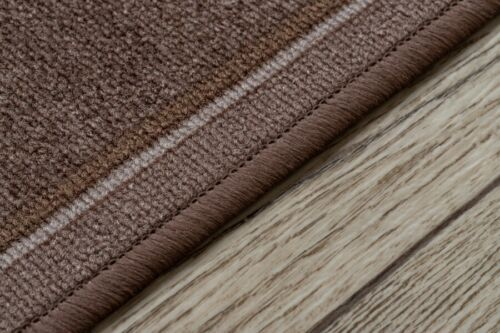 Modern HALL Runner Rugs /'TRIBE/' brown NON-slip Stairs Width 67-100cm extra long