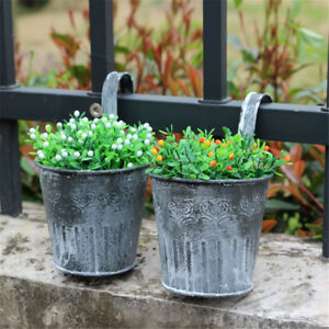 Vintage-Metal-Hanging-Planter-Flower-Pot-Balcony-Garden-Plant-Home-DecoRCUS