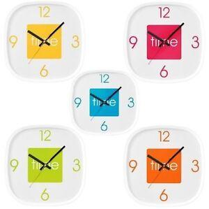 Arco-Reloj-De-Pared-Plastico-Cuadrado-Pantalla-Analogica-Reloj-En-Diferentes-Colores