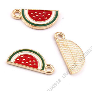 Jewellery Making Charms & Pendants Gold Plated Pendants Watermelon Pendant Charms Jewelry Making Wholesale P951