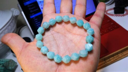 """Details about  /100/% Natural AMAZONITE from MOZAMBIQUE Bead Bracelet for Men Stretch 10mm 8/"""""""